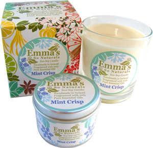 Emma's So Naturals Mint Crisp Glass Tumbler, Box & Tin