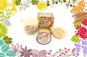Emma's So Naturals Eco-Soy Candles Banner Lavender Candles Collection