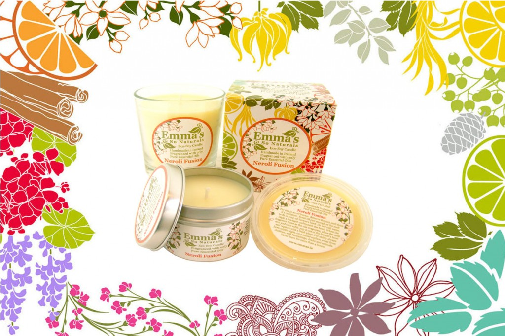 Emma's So Naturals Eco-Soy Candles Banner Neroli Candles Collection