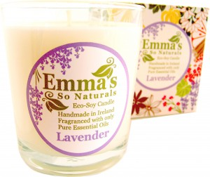 Emma's So Naturals Lavender Tumbler Candle & Box
