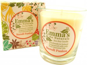 Emma's So Naturals Neroli Tumbler Candle & Box